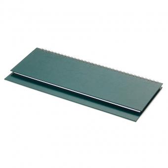 Планинг недатированный Ideal New, зеленый, 305х130 мм, белый блок, открытый гребень