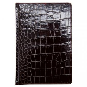 Ежедневник недатированный Сaiman , А5+, коричневый, белый блок, золотой обрез