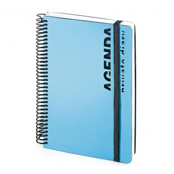 Ежедневник недатированный Agenda, В5, голубой, белый блок, без обреза, без ляссе