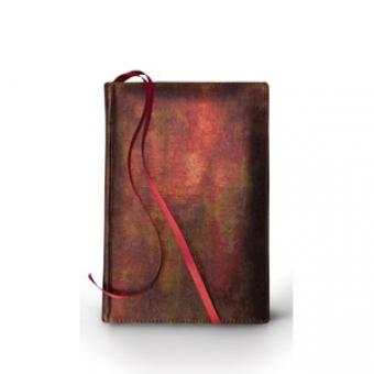 Ежедневник полудатированный Persona, А5+, бронза, бежевый блок, золотой обрез, два ляссе, карта