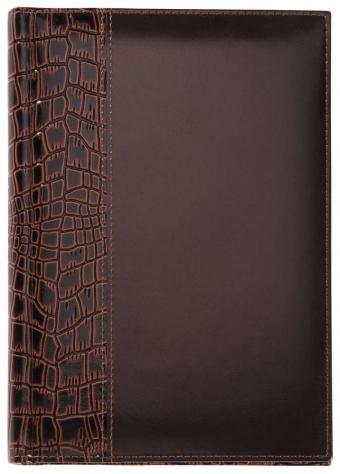 Ежедневник LUXE REPTAIL, недатированный, коричневый