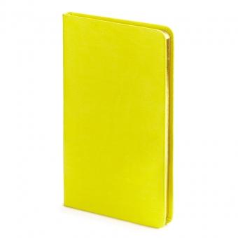 Еженедельник недатированный Megapolis Velvet, А6, желтый, бежевый блок, золотой обрез, ляссе