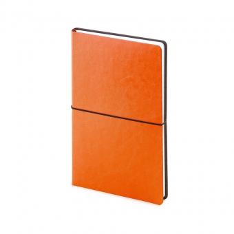 Ежедневник недатированный Status, А5, оранжевый, белый блок, без обреза, ляссе