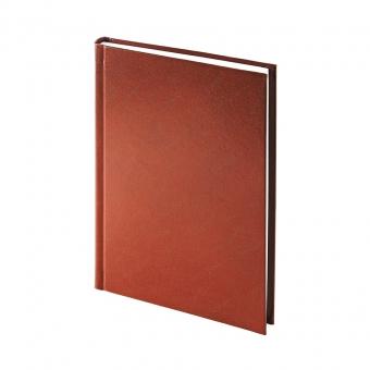 Ежедневник недатированный Ideal New, А5, коричневый, белый блок, без обреза