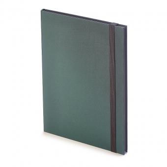 Еженедельник  недатированный Tango, B5, зеленый, бежевый блок, черный обрез, ляссе