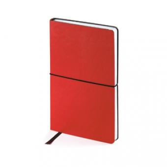 Ежедневник недатированный Status, А5, красный, белый блок, без обреза, ляссе