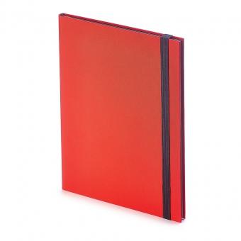 Еженедельник  недатированный Tango, B5, красный, бежевый блок, черный обрез, ляссе