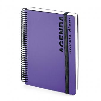 Ежедневник недатированный Agenda, В5, фиолетовый, белый блок, без обреза, без ляссе