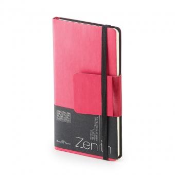 Еженедельник недатированный Zenith, B7, розовый, бежевый блок, без обреза, ляссе