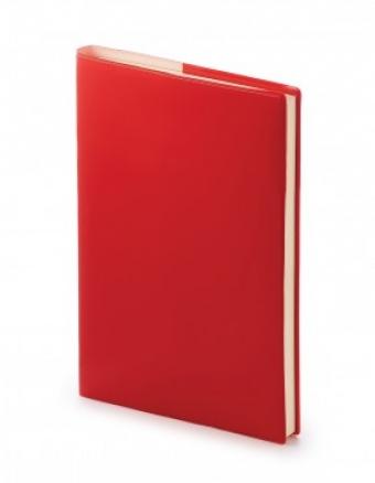 Ежедневник недатированный Glossy Pro, А5, красный, бежевый блок, без обреза