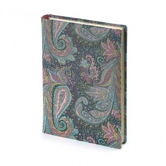 Ежедневник полудатированный Scheherazade new, А5+, серебряный обрез, два ляссе, карта