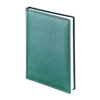 Ежедневник недатированный Velvet, А5, зеленый, белый блок, без обреза