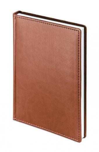 Ежедневник недатированный Velvet, А5, светло-коричневый, белый блок, без обреза