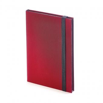 Еженедельник недатированный Tango, B6, бордовый, бежевый блок, черный обрез, ляссе