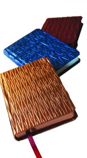 Набор ежедневников недатированных La Scala (3 цвета), А6-, бежевый блок, обрез красный/синий/бронза,