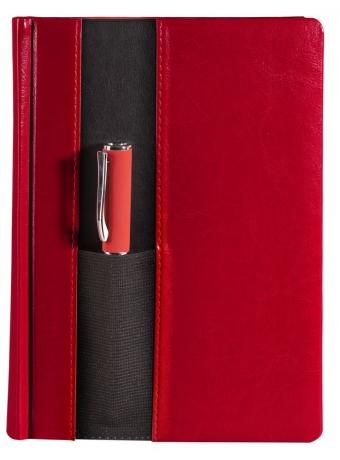 Ежедневник «Футляр», датированный, красный