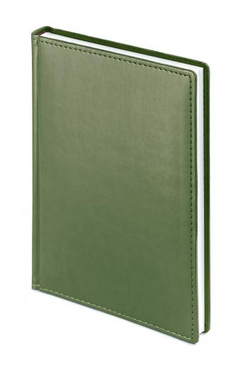 Ежедневник недатированный Velvet, А5, оливковый, белый блок, без обреза