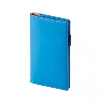 Еженедельник недатированный Concept, А6, синий, бежевый блок, без обреза, телефонная книга
