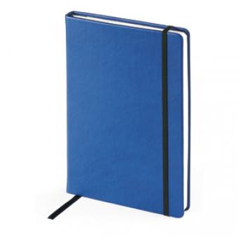 Ежедневник недатированный Megapolis Velvet, А5, синий, бежевый блок, без обреза, ляссе