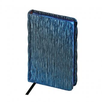Eжедневник недатированный La Scala, синий, А6, бежевый блок, синий обрез