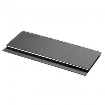 Планинг недатированный Ideal New, черный, 305х130 мм, белый блок, открытый гребень
