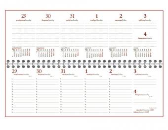 Планинг BRAND, датированный, бордовый