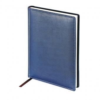 Ежедневник недатированный Leader, А5, синий, белый блок, закругленные углы, без обреза
