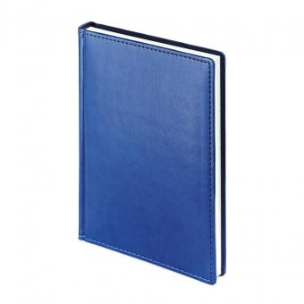 Ежедневник недатированный Velvet, А5, синий, белый блок, без обреза