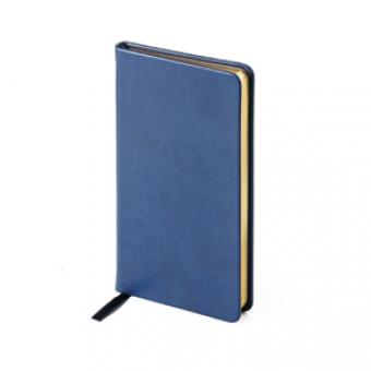 Еженедельник недатированный Megapolis Velvet, А6, темно-синий, бежевый блок, золотой обрез, ляссе