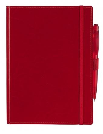 Ежедневник Soft Book, мягкая обложка, недатированный, красный