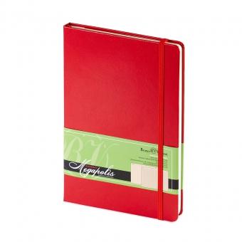Ежедневник-блокнот недатированный Megapolis-Journal, А5, красный, бежевый блок, без обреза