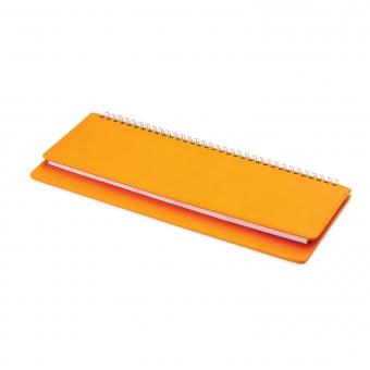 Планинг датированный, Velvet, оранжевый, 305х130 мм, белый блок, открытый гребень