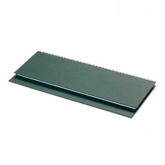 Планинг датированный Бумвинил, зеленый, 295х100 мм, белый блок, открытый гребень