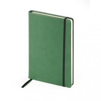 Ежедневник недатированный Megapolis Velvet, А5, зеленый, бежевый блок, без обреза, ляссе