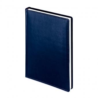 Ежедневник недатированный Velvet, А5, синий navy, белый блок, без обреза