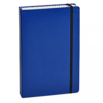 Ежедневник полудатированный Megapolis, А6, синий, бежевый блок, без обреза, ляссе