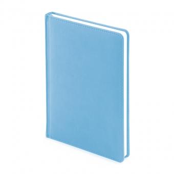 Ежедневник недатированный Velvet, А5, голубой, белый блок, без обреза