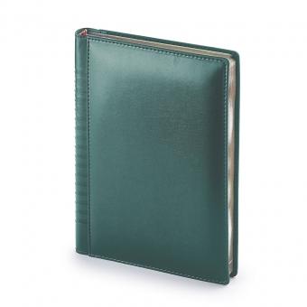 Ежедневник недатированный Image, А5, зеленый, бежевый блок, золотой обрез, ляссе