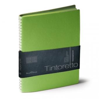 Еженедельник недатированный Tintoretto, B5, салатовый, бежевый блок, зеленый обрез