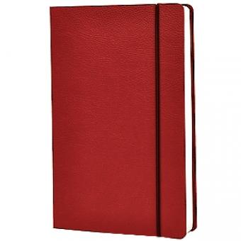 Ежедневник недатированный Vincent, А5, бордовый, бежевый блок, без обреза, ляссе