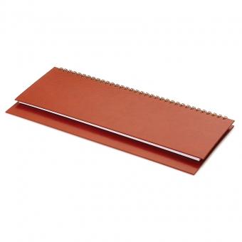 Планинг недатированный Ideal New, коричневый, 305х130 мм, белый блок, открытый гребень