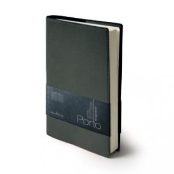 Ежедневник портфолио полудатированный Porto, А5, серый, бежевый блок, без обреза,