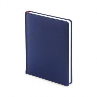Ежедневник недатированный Velvet, А6+, темно-синий, белый блок, без обреза, ляссе