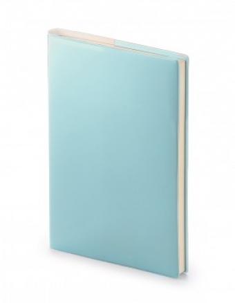 Ежедневник недатированный Glossy Pro, А5, голубой, бежевый блок, без обреза