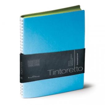 Еженедельник недатированный Tintoretto, B5, бирюзовый, белый блок, зеленый обрез