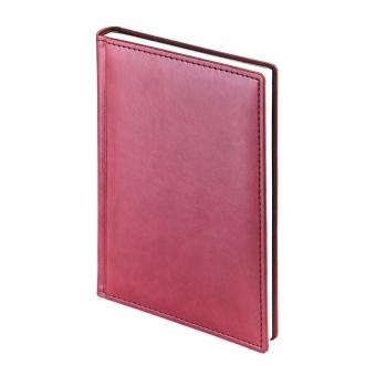 Ежедневник недатированный Velvet, А5, бордовый, белый блок, без обреза