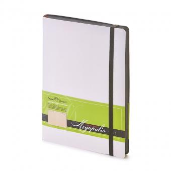 Ежедневник недатированный Megapolis Soft, А5, белый, бежевый блок, контрастный обрез, ляссе