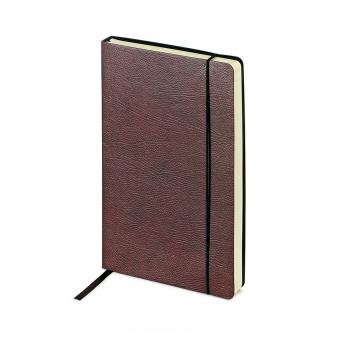 Ежедневник недатированный Vincent, А5,  коричневый, бежевый блок, без обреза, ляссе
