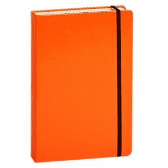 Ежедневник полудатированный Megapolis, А6, оранжевый, бежевый блок, без обреза, ляссе