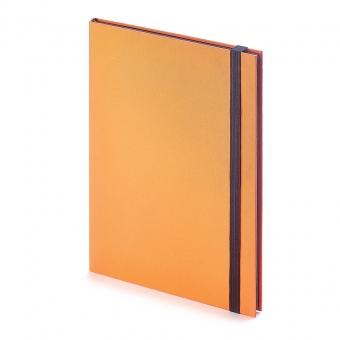 Еженедельник недатированный Tango, B5, оранжевый, бежевый блок, черный обрез, ляссе